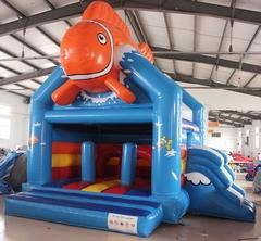 Springkasteel Nemo + glijbaan (4,5 x 5 m) overdekt