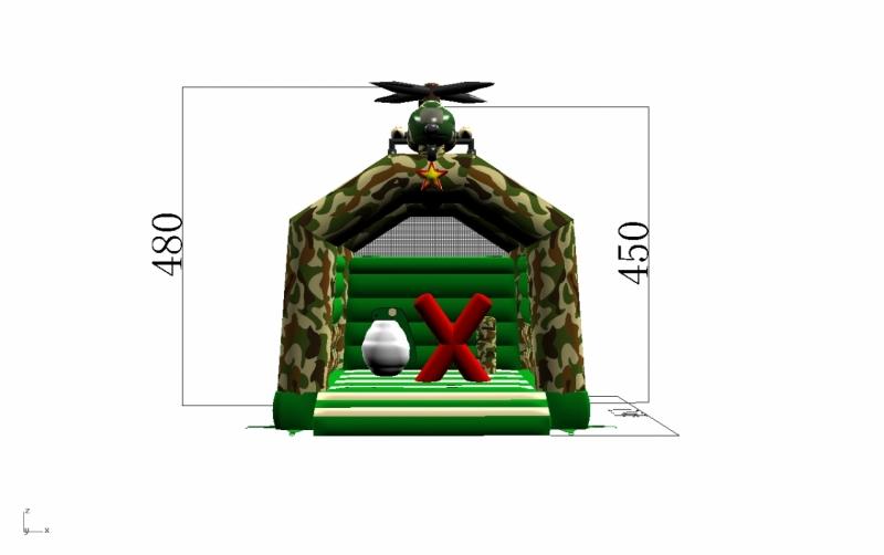 Springkasteel Helikopter (4x5m - overdekt)